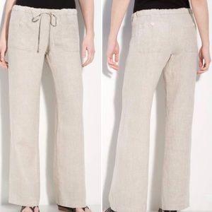 Allen Allen drawcord linen pants with pockets 2x